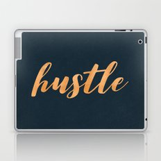 Hustle Text - Copper Bronze Gold and Navy Typography Quote Laptop & iPad Skin