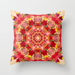 Vintage Flowers In The Round Throw Pillow