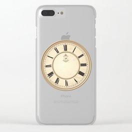 Classy Vintage Birdcage Decorative Clock Clear iPhone Case