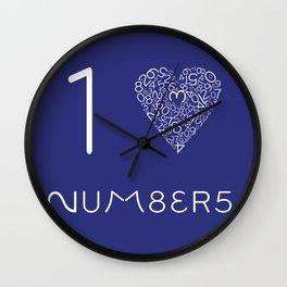 I heart Numbers Wall Clock