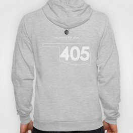 Oklahoma for Jesus 405 - White ink Hoody