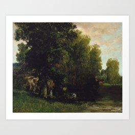 Gustave Courbet The Edge of the Pool (Au Bord de lEtang) Art Print