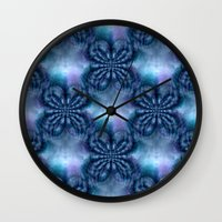 lavender Wall Clocks featuring Lavender... by Cherie DeBevoise