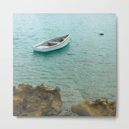 Boat in the tide Metal Print