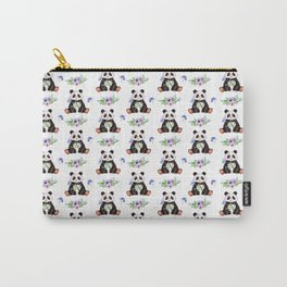 Garden Panda Pattern Carry-All Pouch