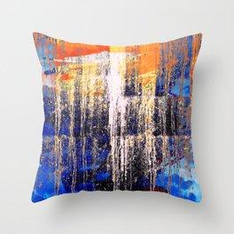 Golden Dawn, Abstract Landscape Art Throw Pillow