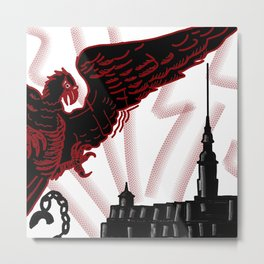 red eagle and the black fortress . illustration Metal Print