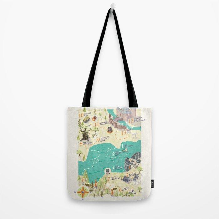 Princess Bride Discovery Map Tote Bag