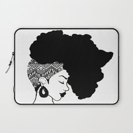 Fro African W&B Laptop Sleeve