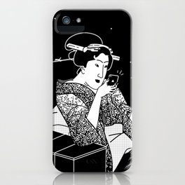 Young Woman with a new smartphone iPhone Case
