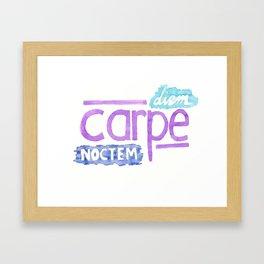 carpe diem / carpe noctem Framed Art Print