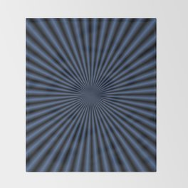 50 Rays in Dark Blue Throw Blanket
