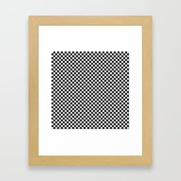 Black and White Checkerboard Pattern Framed Art Print