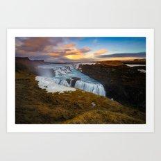Gullfoss waterfall - Iceland (RR 151) Art Print