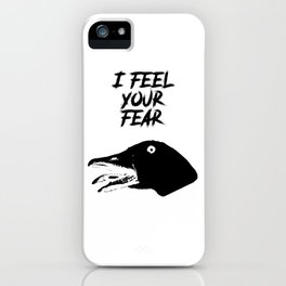 I Feel Your Fear - Creepy Goose Causes Goosebumps iPhone Case