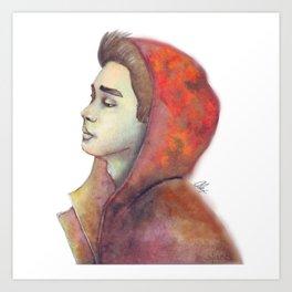 Solemn Boy Art Print
