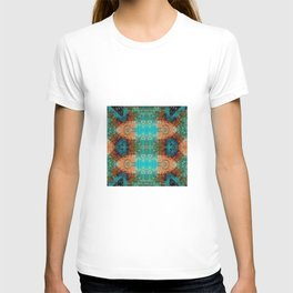 Distressed Southwestern Inspired Turquoise Pattern Design T-shirt