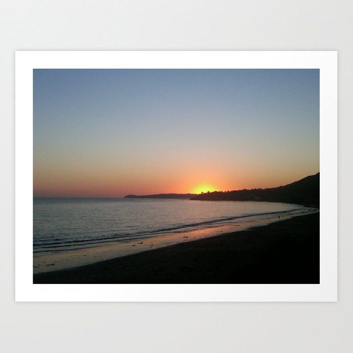 Malibu Sunset Art Print