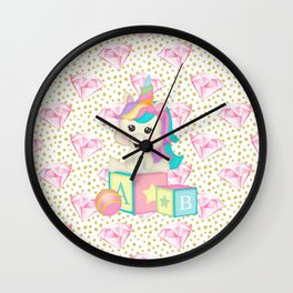 Baby Unicorn Wall Clock