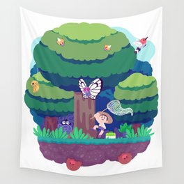 Tiny Worlds - Viridian Forest Wall Tapestry