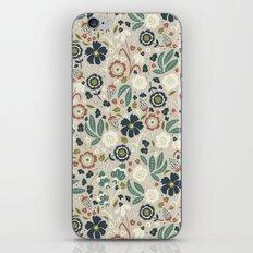 Flourishing Florals (Light-Green) iPhone Skin