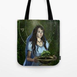 Virgo zodiac fantasy Tote Bag