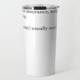 theNewerYork Glossary #1 Travel Mug