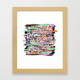 Felt it Framed Art Print