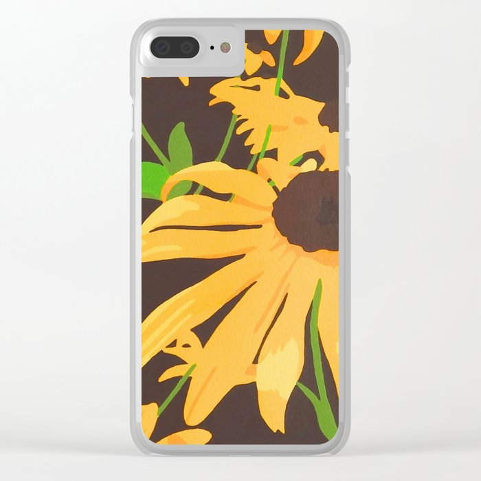 Black-eyed Susan's Clear iPhone Case