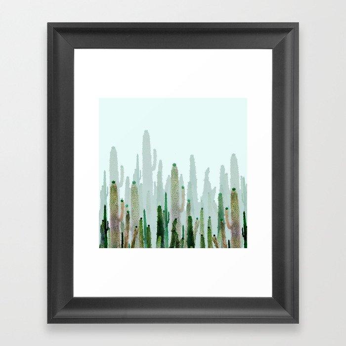 horizont cactus Framed Art Print