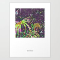 TROPICAL GLOW Art Print
