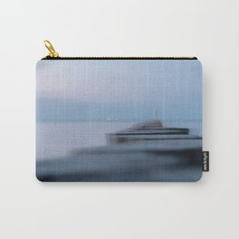 Wooden planks on the beach Carry-All Pouch