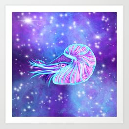 The Celestial Chambered Nautilus Art Print