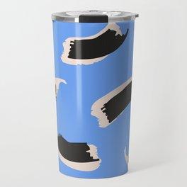 Animal Stripes on Blue Travel Mug