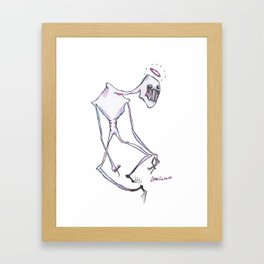 we know why you clench your teeth Framed Art Print