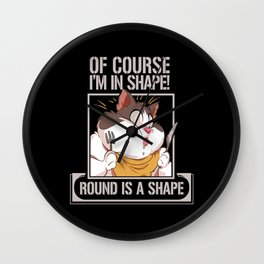 Fat Meme Jokes Chubby Funny Gift Wall Clock