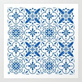 Azulejos Portugese tiles pattern Art Print