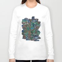 concrete Long Sleeve T-shirts featuring Concrete Jungle  by AdrianWest