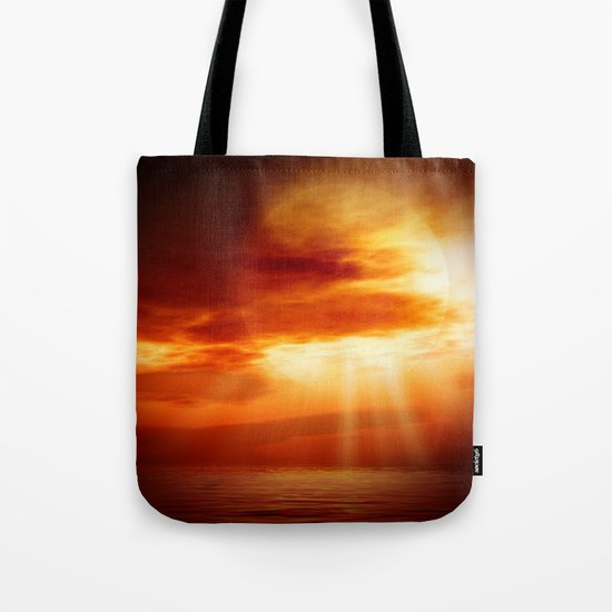 sunrise in the sea Tote Bag