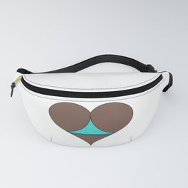 Black Butt Heart Fanny Pack