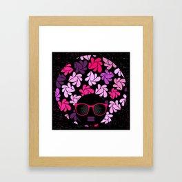 Afro Diva Pink Purple Framed Art Print
