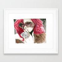 rihanna Framed Art Prints featuring Rihanna by Dee Andrews