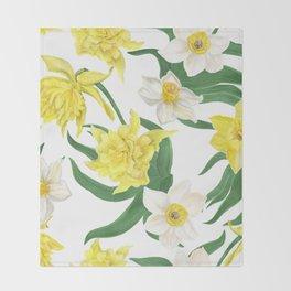 daffodil flowers Throw Blanket
