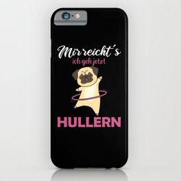 Dogs Mops Hullern Sport Sweet Animals iPhone Case