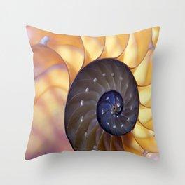 Macro Seashell Throw Pillow