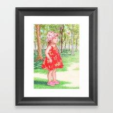 Little Miss Butterfly Framed Art Print