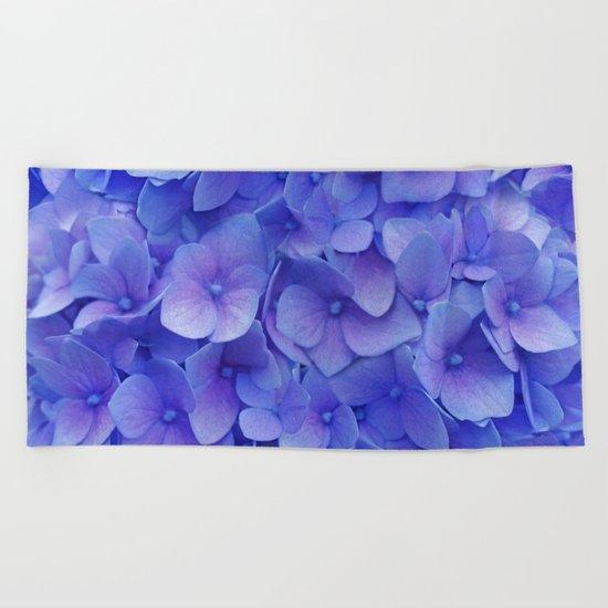 Hydrangea blue Beach Towel