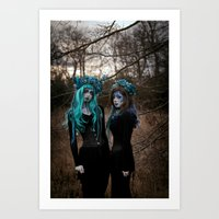 charmaine Art Prints featuring Witch Sisters I by RavenBlakh
