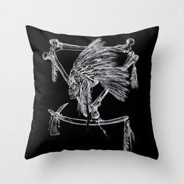 Skull Chief Throw Pillow