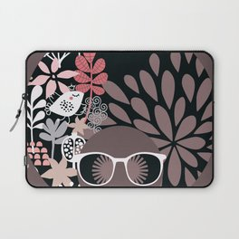 Afro Diva : Sophisticated Lady Pale Pink Peach Taupe Laptop Sleeve